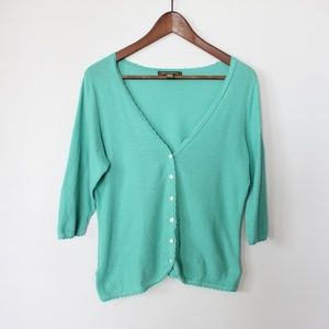 Tommy Bahama Womens Cardigan Size M Mint Green